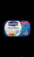 Foie de morue fumé aux tomates séchées et basilic, issu de la pêche durable Nautilus