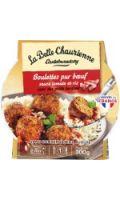 Plat cuisiné boulettes bœuf et riz La Belle Chaurienne