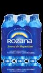 Eau minérale magnésienne naturellement gazeuse Rozana
