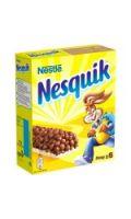 Barres céréales au chocolat Nesquik