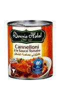 Plat cuisiné Cannelloni sauce tomate halal Dounia Halal