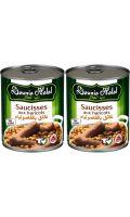 Plats cuisinés halal saucisses haricots Dounia Halal