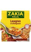 Plat cuisiné halal lasagnes bolognaise Zakia