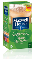 Cappuccino saveur noisettes Maxwell House