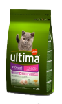 Croquettes pour chat junior poulet/orge Ultima