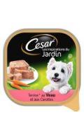 Cesar les Inspirations du Jardin Terrine pour chien au Veau et aux Carrottes Barquette 300