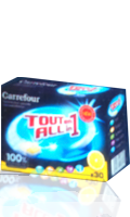 Tablettes pour Lave Vaisselle Tout en 1 Carrefour