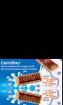 Barre tablette chocolat au lait  fourrage au lait Carrefour