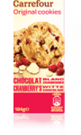 Cookies aux cranberries Carrefour