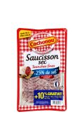 Saucisson sec, réduit en sel Cochonou