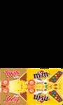 Biscuits chocolatés M&M's et Twix