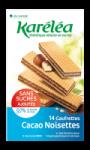 Gaufrettes cacao noisettes sans sucres ajoutés Karéléa