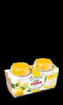 La Faisselle 6% et son coulis de citron-citron vert Rians