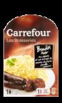 Boudin écrasé pommes de terre Carrefour