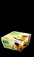 Flan vanille nappé caramel Carrefour Bio