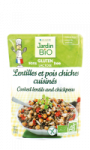 Lentilles et pois chiches cuisinés sans gluten Jardin Bio