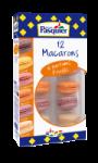 12 Macarons 6 parfums Fruités