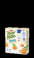 Yaourts en gourde brassés abricot Pom'potes