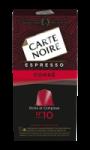 Café Capsules Espresso Corsé N°10 Carte Noire