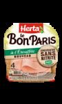 4 tranches de Jambon à L'Étouffée Sans Nitrite Le Bon Paris Herta