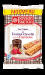 Les crêpes au Fondant Chocolat et à la Framboise Paysan Breton
