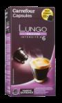 Capsules de café Lungo équilibré Carrefour