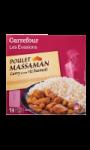 Poulet massaman curry et son riz basmati Carrefour