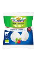 Mozzarella Di Latte Bufala Bio 125g Casa Azzurra