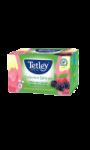 Thé vert fruits rouges gourmands sans amertume Tetley Collection Délicate