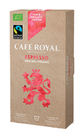 Café Royal compatibles système Nespresso®* Bio Espresso x10 capsules