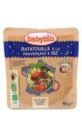Plat bébé dès 8 mois, ratatouille/riz Babybio
