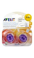Sucettes 0-6 mois silicone Avent