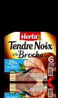 Jambon cuit à la Broche sel réduit Herta Tendre Noix