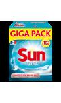 Sun Tablettes Lave-Vaisselle Tout En 1 102 Pastilles
