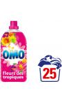 Omo Lessive Liquide Fleurs Des Tropiques Et Magnolia 1,75l 25 Lavages