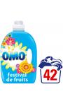 Omo Lessive Liquide Festival De Fruits Et Fleurs D'Eté 2,94l 42 Lavages