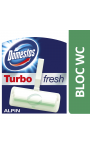Domestos Bloc Wc Turbo Fresh Fraîcheur Alpine x1