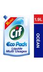 Cif Eco Pack Nettoyant Sols Multi-Usages Océan 1,9l