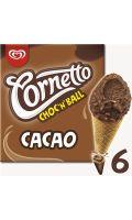 Cornetto Choc N Ball Cornet Glace Cacao x6 690ml