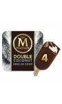 Magnum Batonnet Glace Double Coco x4 352ml