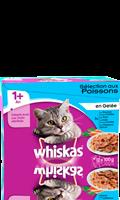Whiskas® Sélection aux poissons en gelée pour chat 1+  12x100g