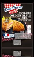 Cordon bleu de poulet x4 - viande 100% filet Douce France