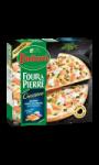 Pizza Four à Pierre Creazione, Saumon, Courgettes, Duo D'oignons et Fromage blanc à l'an