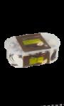 Glace à la poire, sauce chocolat Carrefour
