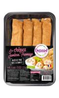 Les Crêpes Jambon-Fromage x4 Dessaint Traiteur