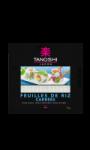 Feuilles riz carrées Tanoshi