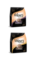 Velours Noir cafe dosettes arabica intense ou classic