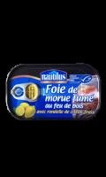 Foie de morue fumé avec citron frais Nautilus