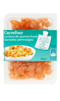 Lardons de saumon fumé Carrefour
