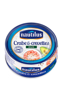 Duo crabe et crevettes Nautilus 105g